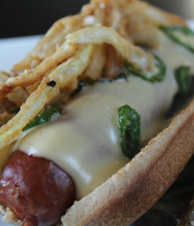 Jalapeno Cheese Covered Sausage Dogs