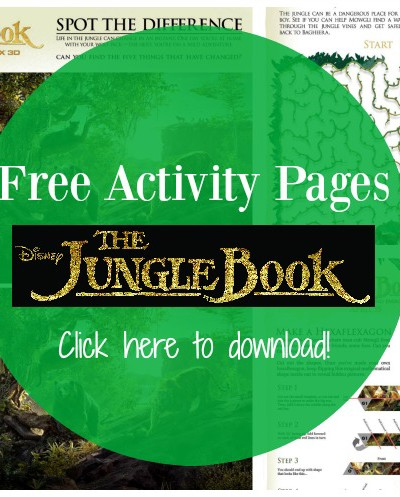 Disney's THE JUNGLE BOOK – Activity Sheets