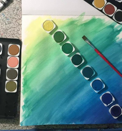 Kayla and Her Beautiful Watercolor Paintings