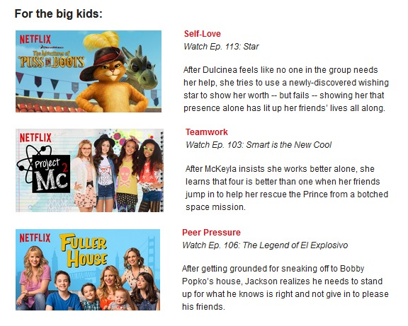 Netflix Big Kids May 2016