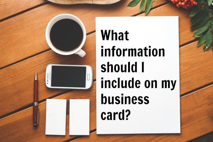 business card info featured