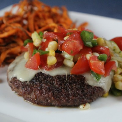 Southwest Turkey Burger with Fresh Corn Salsa