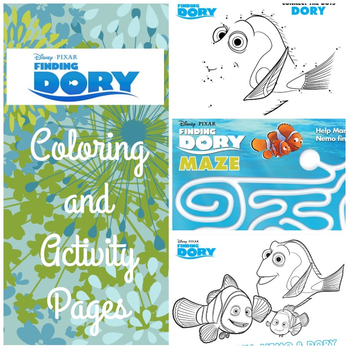Finding Dory Coloring Sheets Pin