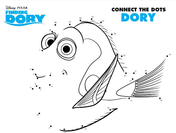 Finding Dory Connect the Dots
