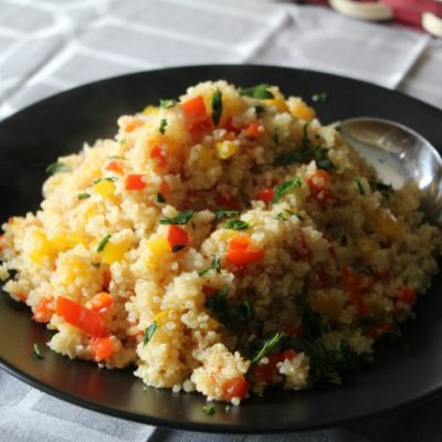 Quinoa and Pepper Pilaf – The Perfect Dish for Your Outdoor Summer Block Party