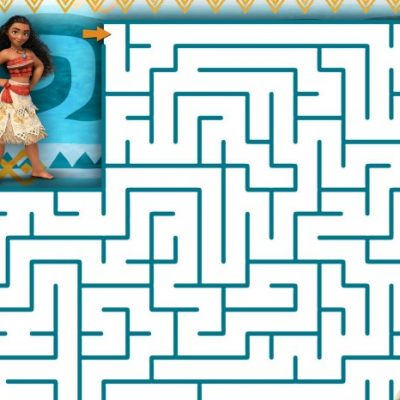 Disney's Moana Coloring Sheets and Activity Pack