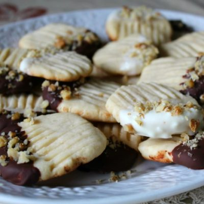 Chocolate Tipped Butter Cookies and How I Share the Sweetness