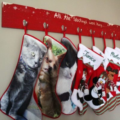 How to Create a Beautiful Stocking Holder for the Holidays