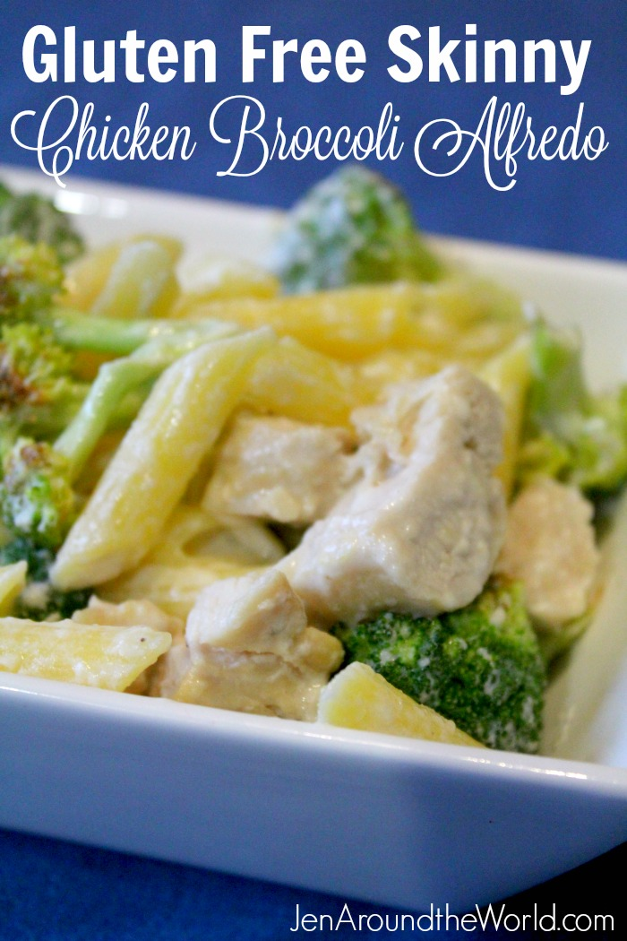 Gluten Free Skinny Chicken Broccoli Alfredo