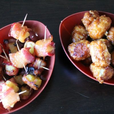 #AD Easy Bacon Wrapped Pineapple Bites