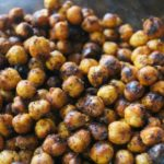 spicy garlic roasted chickpeas