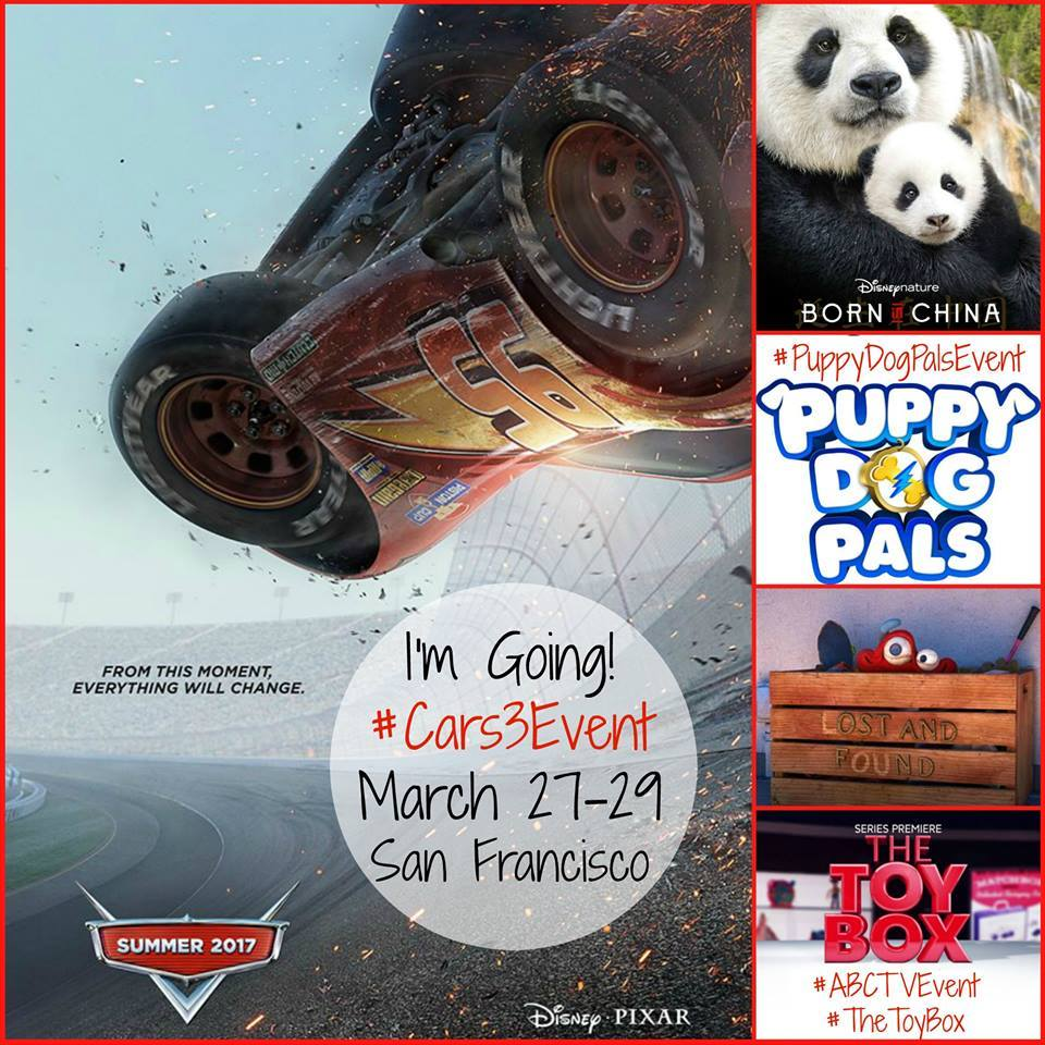 I'm Headed to San Francisco for the Disney/Pixar #Cars3Event