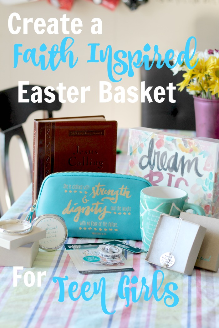 How to create a faith based easter basket for a teenager jen easter basket for teen girls negle Images