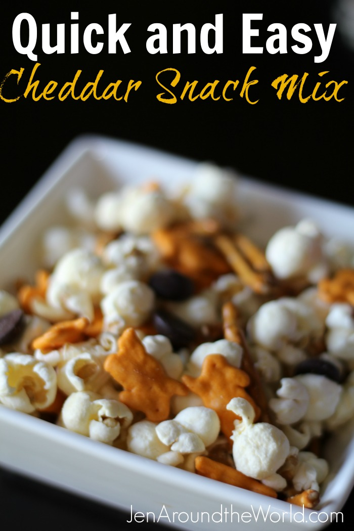 Quick and Easy Cheddar Snack Mix hero