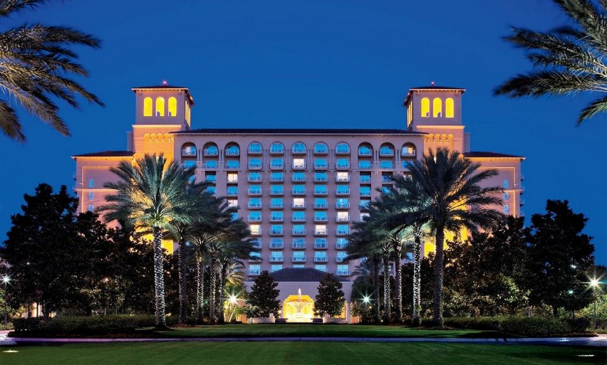 The Beautiful Ritz Carlton Hotel in Orlando Florida