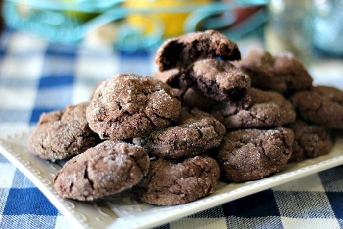 Chocolate Sugar Cookies #SummerDessertWeek
