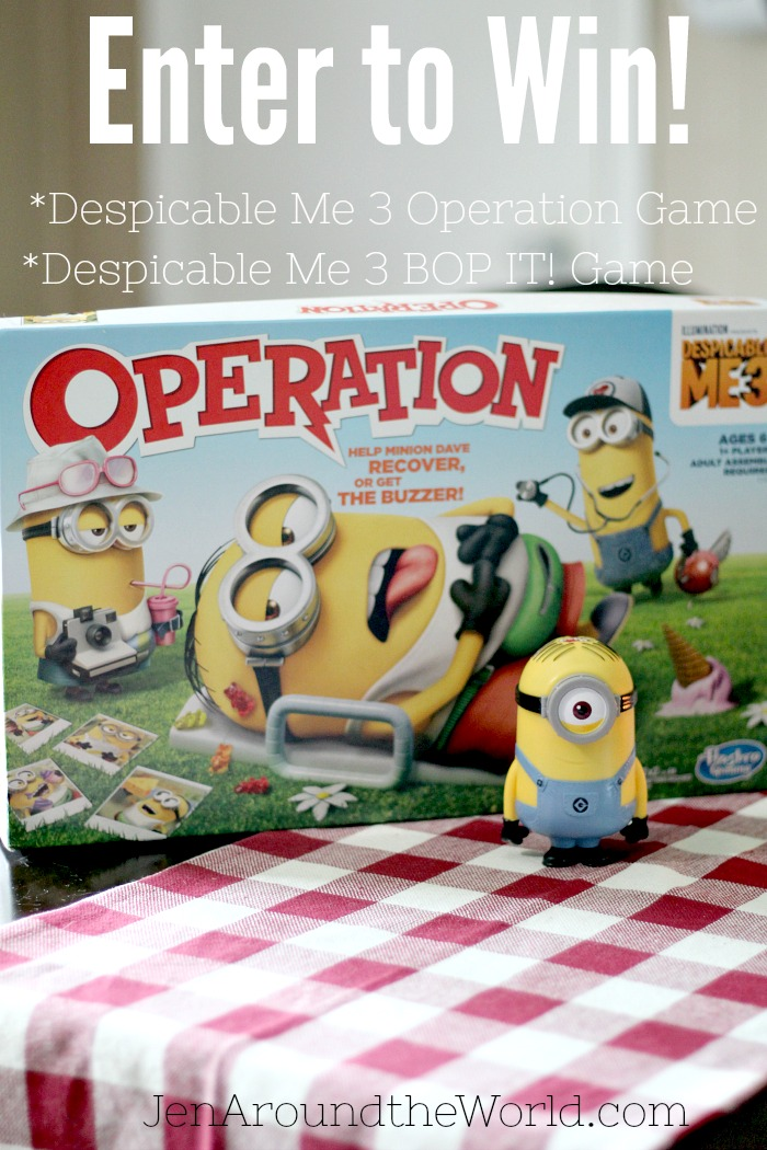 Enter to win Despicable Me 3 Hasbro Games Giveaway