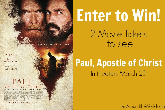 Paul Apostle of Christ in theaters March 23 (plus a giveaway for 2 free Fandango tickets)